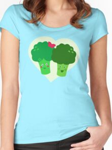 Broccoli in Love Women's Fitted Scoop T-Shirt