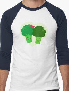 Broccoli in Love Men's Baseball ¾ T-Shirt