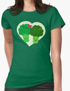 Broccoli in Love Womens Fitted T-Shirt