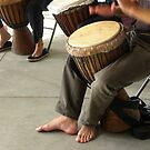 African Drum Players Hands & Feet by Sandra Gray