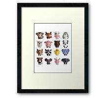 Cute Animals Collection Framed Print