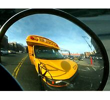 Driving the school bus, New York City  Photographic Print