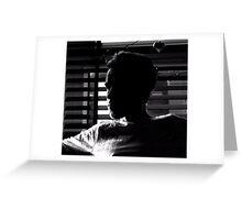 Radek in the shadow Greeting Card