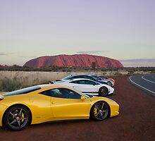 Ferrari 458 Italia at Uluru by Jan Glovac Photography