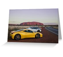 Ferrari 458 Italia at Uluru Greeting Card