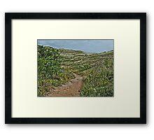 Dune Trail Framed Print