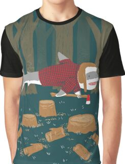 LumberJack Shark Graphic T-Shirt