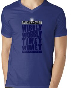 Talk Whovian to Me (Version 2) Mens V-Neck T-Shirt
