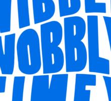 Talk Whovian To Me (version 2, light blue) Sticker