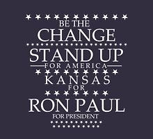 """""""Be the Change- Stand Up"""" Kansas for Ron Paul T-Shirt"""