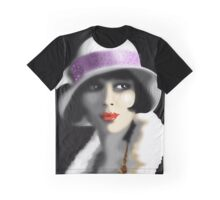 Girl's Twenties Vintage Glamour Portrait Graphic T-Shirt