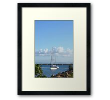 Coming into Harbour Framed Print