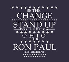 """""""Be The Change- Stand Up For America"""" Ohio for Ron Paul T-Shirt"""