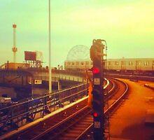 entering coney island station by ShellyKay