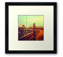 entering coney island station Framed Print