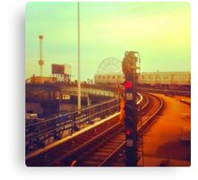entering coney island station Canvas Print