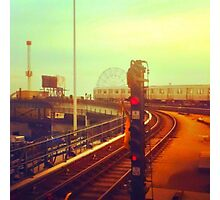 entering coney island station Photographic Print