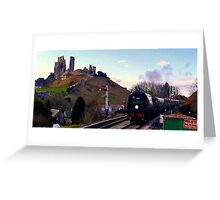Manston at Corfe Castle Greeting Card