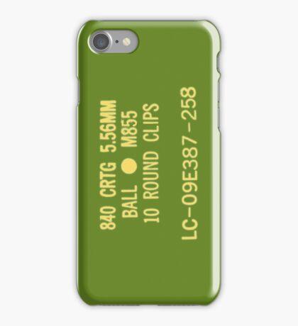 5.56x45mm M855 ammo can iPhone Case/Skin