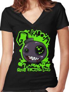 KA-BOOM Women's Fitted V-Neck T-Shirt