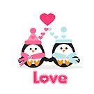 Penguin Love by sweettoothliz