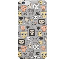 Skulls on Grey iPhone Case/Skin