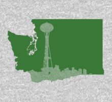 Ode to Washington State Partial Silhouette Kids Clothes