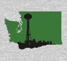 Ode to Washington State Black Silhouette Kids Clothes