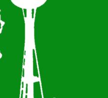 Ode to Washington State White Silhouette Sticker