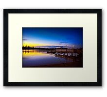 Twin Water Dawn Framed Print