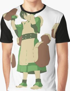 Minimalist Toph from Avatar the Last Airbender Graphic T-Shirt