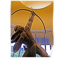Statue of American Indian with Bow and Arrow Poster