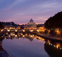 St Peters sunset by Sam Tabone