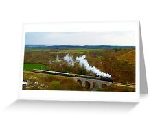 Crossing the viaduct. 2 Greeting Card
