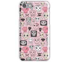 Skulls on Pink iPhone Case/Skin