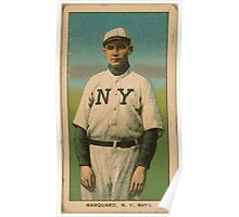 Benjamin K Edwards Collection Rube Marquard New York Giants baseball card portrait Poster