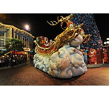 Christmas Parade at Disneyland, Hong Kong Photographic Print