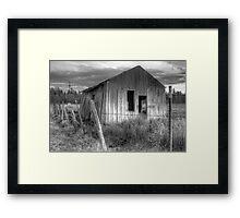 Shack on the Fence Line II Framed Print