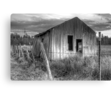Shack on the Fence Line II Canvas Print
