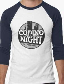 Programmer T-shirt : Coding at the night Men's Baseball ¾ T-Shirt