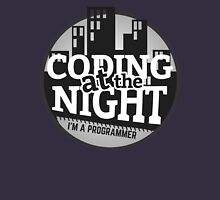 Programmer T-shirt : Coding at the night T-Shirt