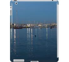 Mediterranean Blue Hour Magic - Valletta's Marsamxett Harbour Shimmering Lights iPad Case/Skin