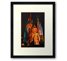 Lights of Christmas, Sydney 2011 Framed Print