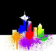 Seattle Skyline Graffiti iPhone Case by Josh Marten