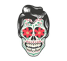 Retro Mexican Skull by alee7spain