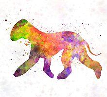 Bedlington Terrier in watercolor by paulrommer