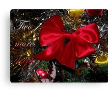 Red Ribbon Canvas Print