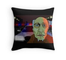 Running from the Cops Throw Pillow