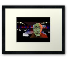 Running from the Cops Framed Print