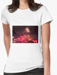 Fireworks in Brisbane Womens Fitted T-Shirt